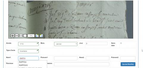 Indexation d'un répertorie de notaire